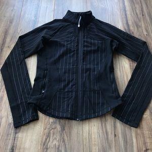 Lululemon Black & White forme Jacket pin stripes